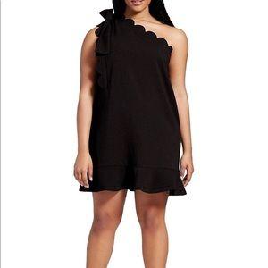 One shoulder Black cocktail dress